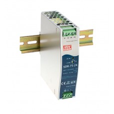 SDR-75-12 DIN Rail Industrial Mean Well Power Supply